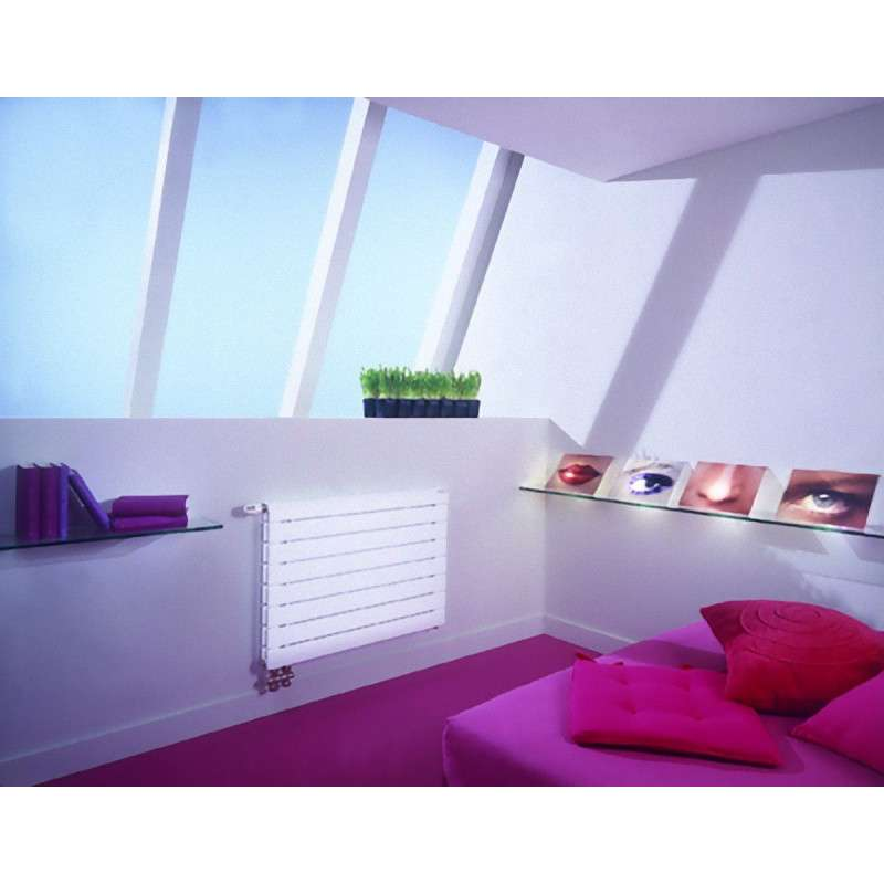 radiateur eau chaude acova fassane pack double horizontal blanc. Black Bedroom Furniture Sets. Home Design Ideas