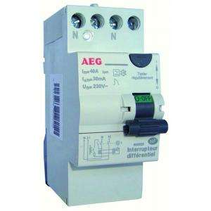 INTERRUPTEUR DIFFERENTIEL 40A 30MA TYPE A AVE AEG AUN605825