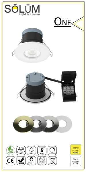 Spot encastré Led Dimmable One Solum